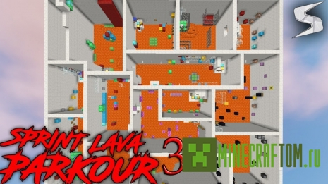 Карта Sprint Lava Parkour 3 (Бег по лаве 3)