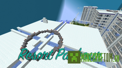 Resort parkour карта (Паркур на курорте) для Майнкрафт